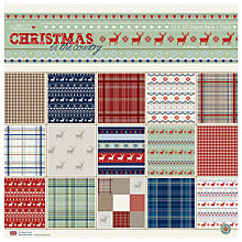Buy Docrafts Papermania Christmas in the Country Paper, Pack of 32 Online at johnlewis.com
