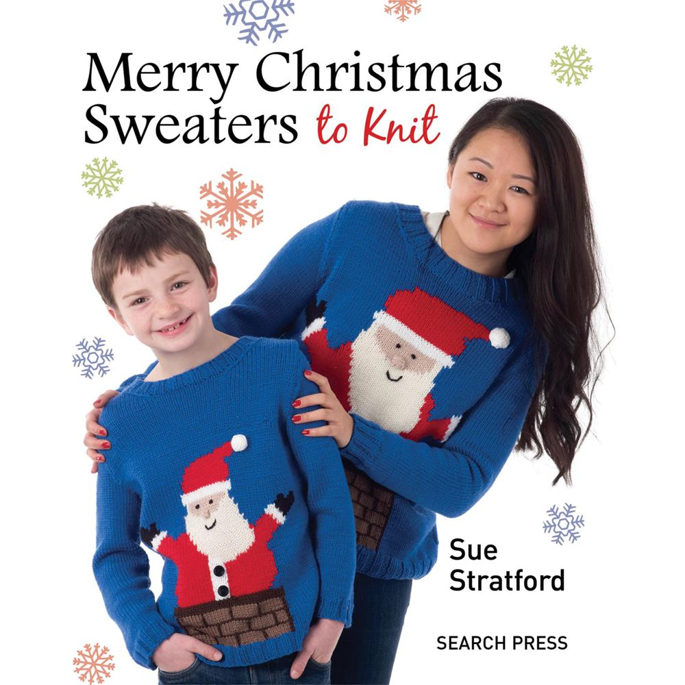Search Press Merry Christmas Sweaters to Knit by Sue Stratford Knitting Book