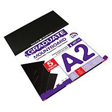 Buy Daler Rowney Graduate A2 Mountboard, Pack of 5, Black Online at johnlewis.com