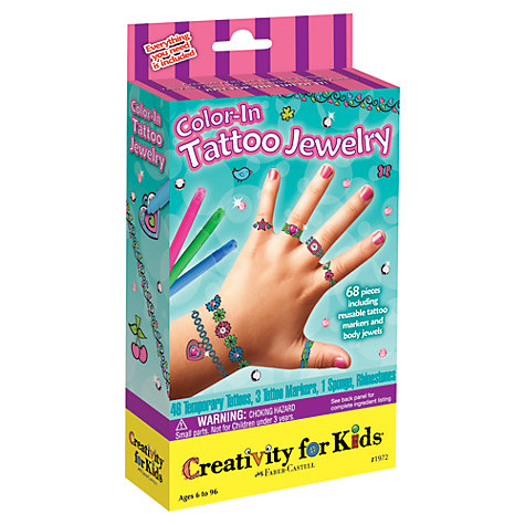 Buy Creativity For Kids Colour-In Tattoo Jewellery Kit Online at johnlewis.com
