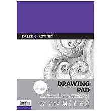 Buy Daler Rowney Simply A4 Drawing Pad Online at johnlewis.com