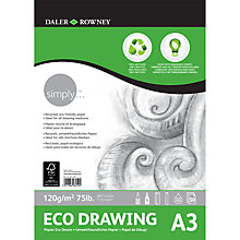 Buy Daler Rowney A3 Eco Drawing Pad Online at johnlewis.com