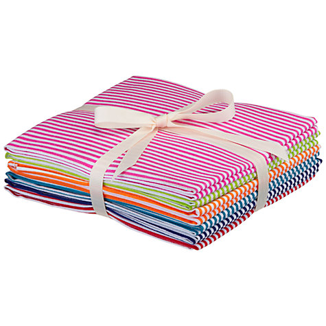 Buy John Lewis Striped Fat Quarters, Pack of 6 Online at johnlewis.com
