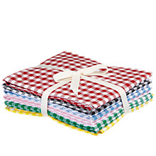Buy John Lewis Fat Quarters, Pack of 6, Gingham Online at johnlewis.com