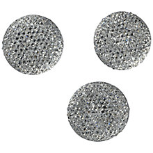Buy Jesse James Large Crystal Embellishments, Pack of 3, Silver Online at johnlewis.com
