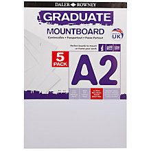 Buy Daler Rowney Graduate Mount Boards, A2, Pack of 5, White Online at johnlewis.com