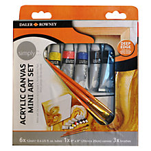 Buy Daler Rowney Acrylic Canvas Mini Art Set Online at johnlewis.com