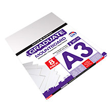 Buy Daler Rowney Graduate A3 Mountboard, Pack of 8 Online at johnlewis.com