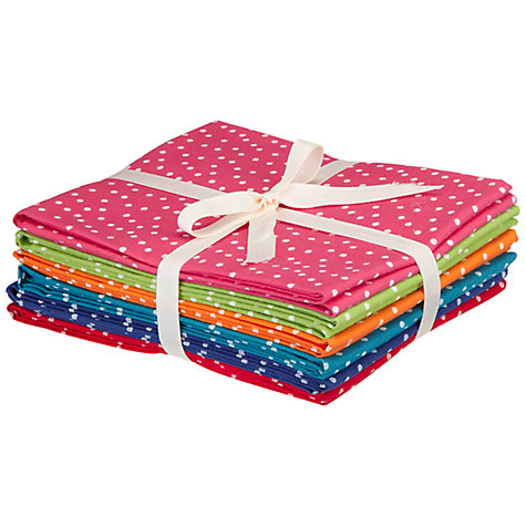 Buy John Lewis Fat Quarters, Pack of 6, Bright Spots Online at johnlewis.com