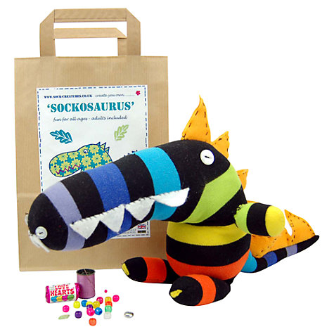 Buy Sock Creatures Sockosaurus Dinosaur Kit Online at johnlewis.com