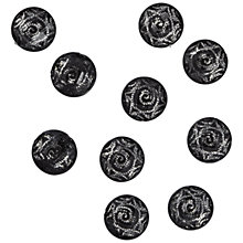 Buy Jesse James Swirl Embellishments, Pack of 10, Black/Silver Online at johnlewis.com