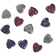 Buy Jesse James, Crystal Heart Embellishments, Pack of 12, Multi Online at johnlewis.com
