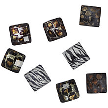 Buy Jesse James Square Embellishments, Pack of 8, Animal Prints Online at johnlewis.com
