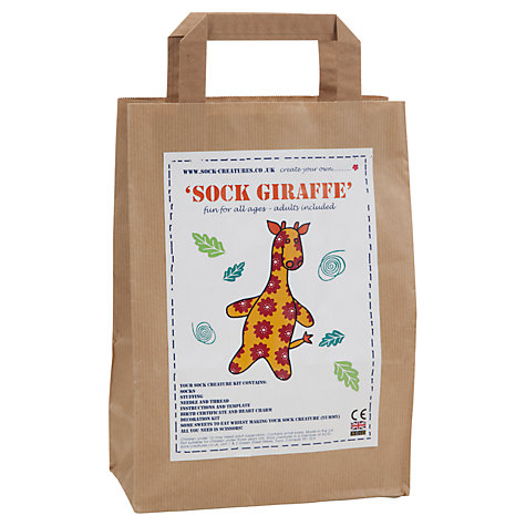 Buy Sock Creatures Sock Giraffe Kit Online at johnlewis.com