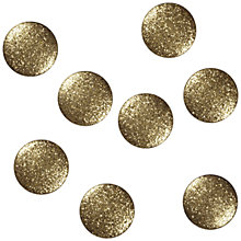 Buy Jesse James Large Glitter Dot Paper Toppers, Pack of 8 Online at johnlewis.com