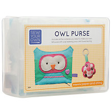 Buy Paper and String Sew Your Own Owl Purse Kit Online at johnlewis.com