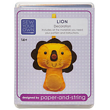 Buy Sew Your Own Christmas Decoration Kit, Lion Online at johnlewis.com