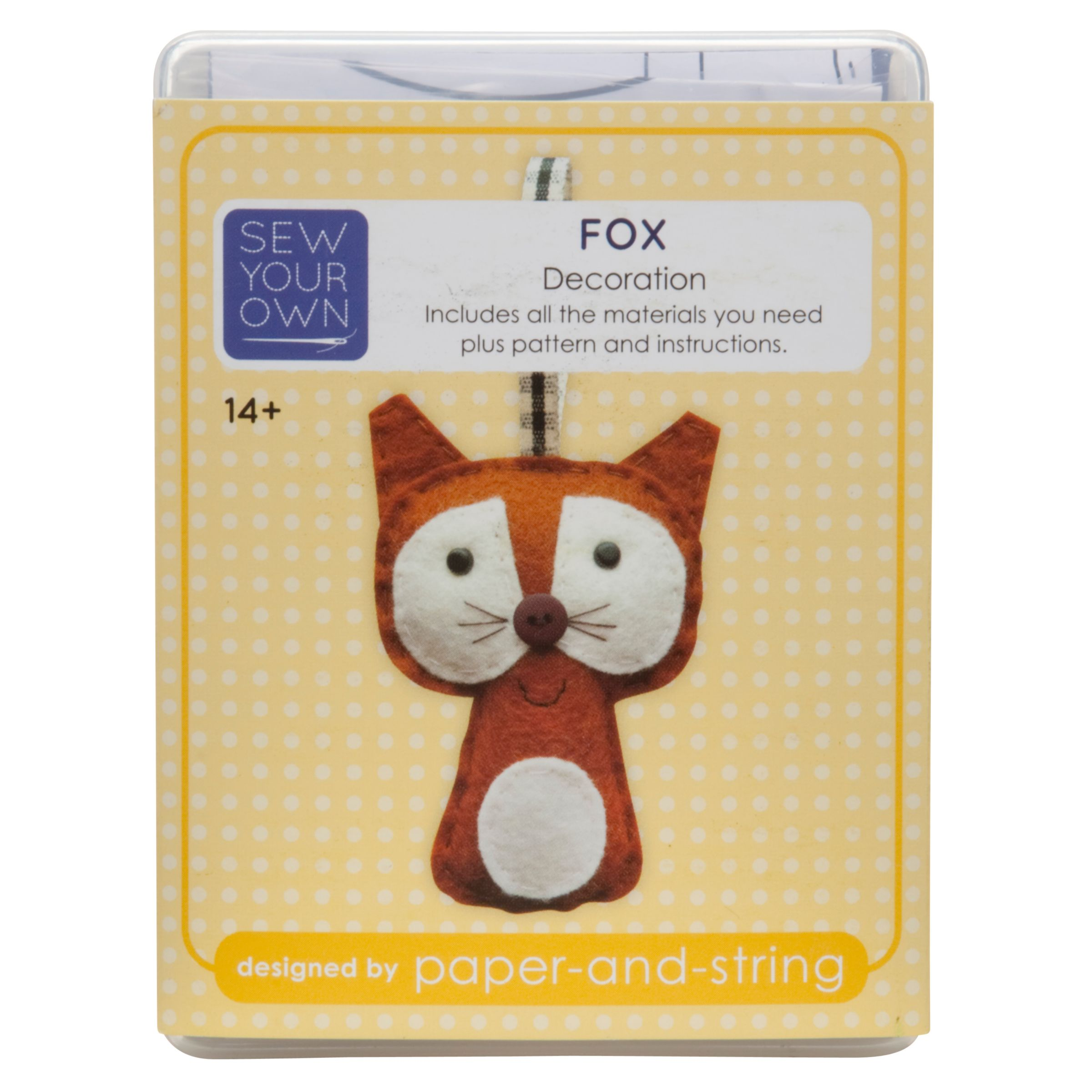 Paper and String Sew Your Own Christmas Kit, Fox