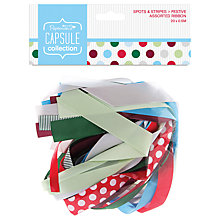 Buy Docrafts Capsule Collection Festive Spots and Stripes Assorted Ribbons, Pack of 20 Online at johnlewis.com