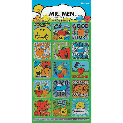Buy Mr Men Reward Stickers Online at johnlewis.com