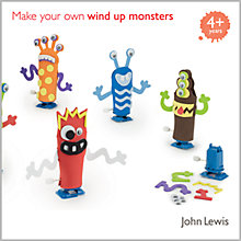 Buy John Lewis Make Your Own Wind Up Monsters Kit Online at johnlewis.com