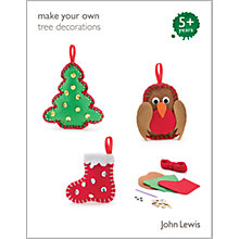 Buy John Lewis Make Your Own Christmas Tree Decorations Kit Online at johnlewis.com