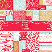 Buy Docrafts 12 Days of Christmas Paper, Pack of 24 Online at johnlewis.com
