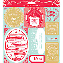 Buy Docrafts Papermania 12 Days of Christmas Card Toppers Online at johnlewis.com