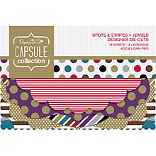 Buy Docrafts Papermania Capsule Collection Spots and Stripes Jewels Die Cut Decorations, Pack of 18 Online at johnlewis.com