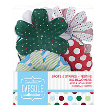 Buy Docrafts Papermania Capsule Collection Festive Spots and Stripes Big Bloomers, Pack of 32 Online at johnlewis.com