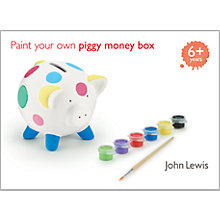 Buy John Lewis Paint Your Own Piggy Money Box Kit Online at johnlewis.com