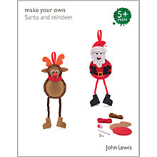 Buy John Lewis Make Your Own Santa and Reindeer Decorations Online at johnlewis.com