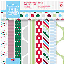 Buy Docrafts Festive Spots and Stripe Paper, Pack of 32 Online at johnlewis.com