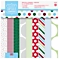Docrafts Festive Spots and Stripe Paper, Pack of 32