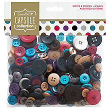 Buy Docrafts Capsule Collection Jewel Spots and Stripes Assorted Buttons, 250g Online at johnlewis.com