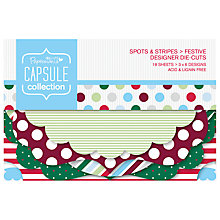 Buy Docrafts Capsule Collection Festive Spots and Stripes Die Cuts, Pack of 18 Online at johnlewis.com