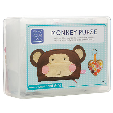 Buy Paper and String Sew Your Own Purse Monkey Kit Online at johnlewis.com