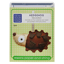 Buy Sew Your Own Christmas Decoration Kit, Hedgehog Online at johnlewis.com
