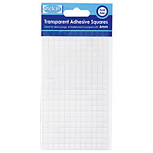 Buy Docrafts Transparent Adhesive Squares Online at johnlewis.com