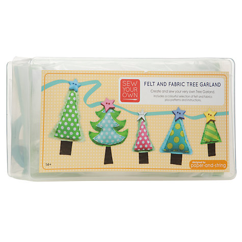 Buy Paper and String Sew Your Own Felt and Fabric Tree Garland Kit Online at johnlewis.com