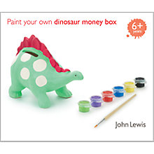 Buy John Lewis Paint Your Own Dinosaur Money Box Kit Online at johnlewis.com