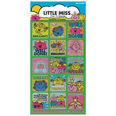 Buy Little Miss Reward Stickers Online at johnlewis.com