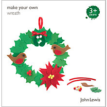 Buy John Lewis Make Your Own Wreath Decoration Kit Online at johnlewis.com