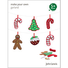 Buy John Lewis Make Your Own Christmas Garland Kit Online at johnlewis.com