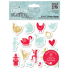 Buy Docrafts Papermania 12 Days of Christmas Icons Stamp Online at johnlewis.com
