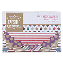 Buy Docrafts Capsule Collection Papermania Spots and Stripes Jewels Die-Cut Decorations, Pack of 18 Online at johnlewis.com