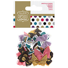 Buy Docrafts Papermania Capsule Collection Spots and Stripes Jewels Bows, Pack of 20 Online at johnlewis.com