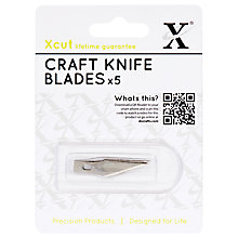 Buy Docraft Xcut Craft Knife Blades, Pack of 5 Online at johnlewis.com