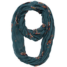 Buy Fat Face Helena Cluster Floral Print Snood, Navy Online at johnlewis.com