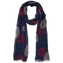 Buy Fat Face Hydrangea Floral Print Scarf, Navy Online at johnlewis.com